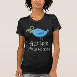 Pájaro del autismo de la cinta del pedazo del romp camisetas