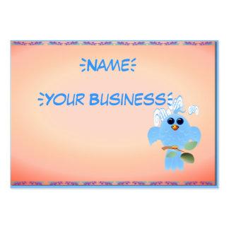 Pájaro del azul de cielo profilecard_chubby_horizo tarjetas de visita grandes