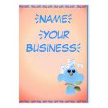 Pájaro del azul de cielo profilecard_chubby_vertic plantilla de tarjeta de visita
