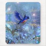 Pájaro del azul de Mousepad Alfombrillas De Ratones
