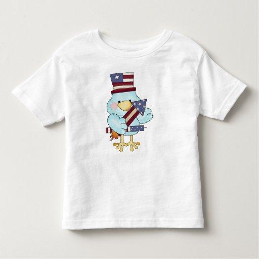 Pájaro del azul del Día de la Independencia Playera De Bebé