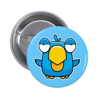 Pájaro del azul del dibujo animado pin