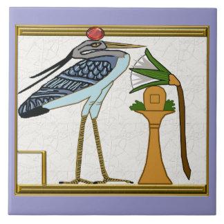pájaro del bennu teja cerámica