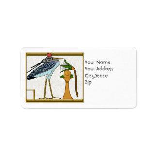 pájaro del bennu etiquetas de dirección