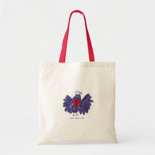 Pájaro del bolso de la paz bolsas de mano