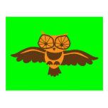 ¡Pájaro del búho de PITIDO del PITIDO lindo! Postal