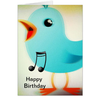 Pájaro del canto tarjeta de felicitación