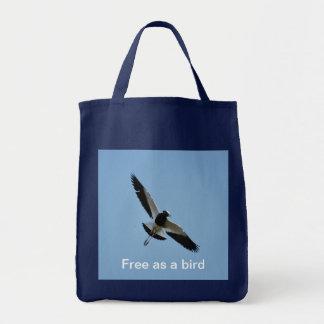 Pájaro del chorlito en vuelo bolsa tela para la compra
