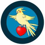 Pájaro del Cockatiel en el Pin de acrílico del rec Esculturas Fotograficas