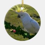 Pájaro del Cockatoo del navidad en Australia Adorno De Reyes