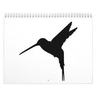 Pájaro del colibrí calendarios de pared
