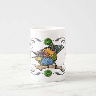 Pájaro del comedor de abeja tazas de porcelana