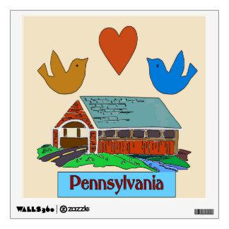 Pájaro del corazón de Pennsylvania, puente Vinilo