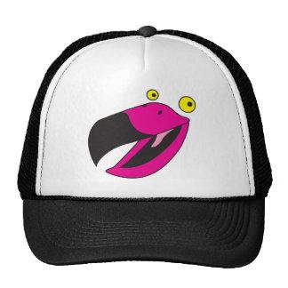 Pájaro del cubilete con la cara divertida gorras de camionero
