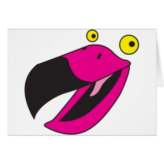Pájaro del cubilete con la cara divertida tarjetón