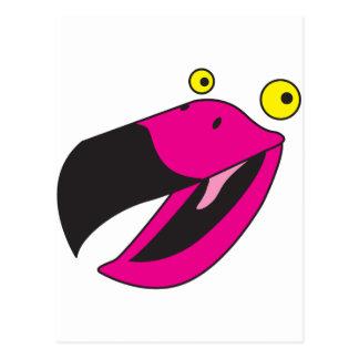 Pájaro del cubilete con la cara divertida tarjeta postal