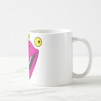 Pájaro del cubilete con la cara divertida taza de café