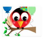 Pájaro del cumpleaños postal