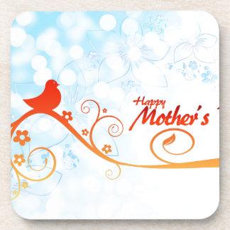 Pájaro del día de madre posavasos