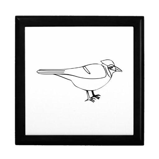 Pájaro del dibujo animado cajas de recuerdo