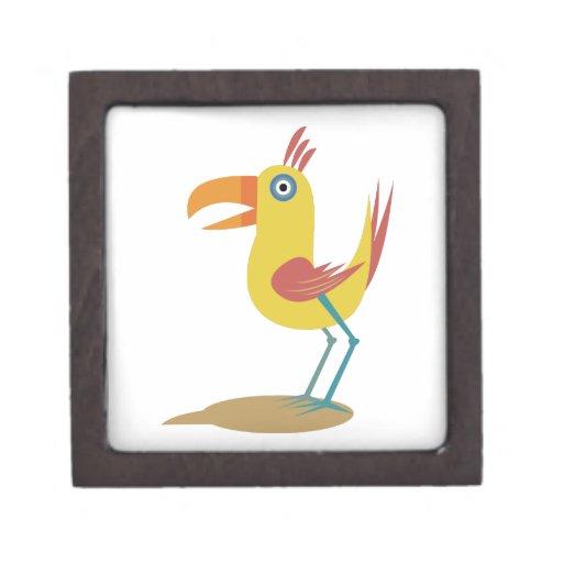 Pájaro del dibujo animado cajas de regalo de calidad