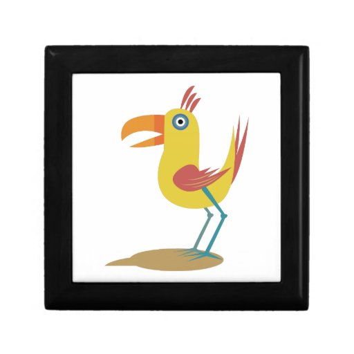 Pájaro del dibujo animado caja de joyas