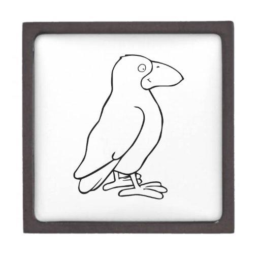 Pájaro del dibujo animado cajas de joyas de calidad