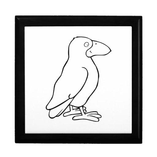 Pájaro del dibujo animado caja de recuerdo