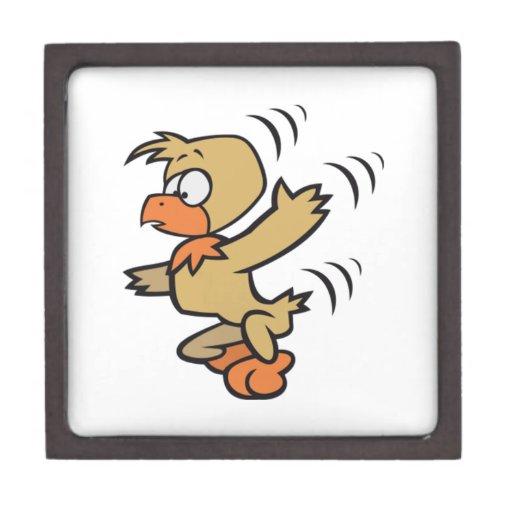 Pájaro del dibujo animado del baile caja de joyas de calidad