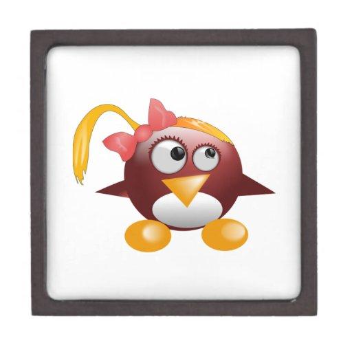 Pájaro del dibujo animado del chica cajas de joyas de calidad