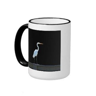 ¡Pájaro del Egret en la verja! Taza
