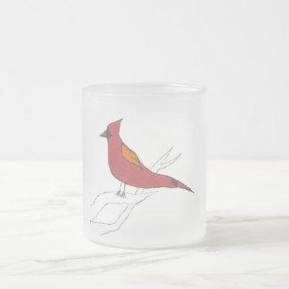 Pájaro del estado de Ohio Taza Cristal Mate