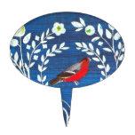 Pájaro del estilo de los artes y de los artes decoraciones para tartas