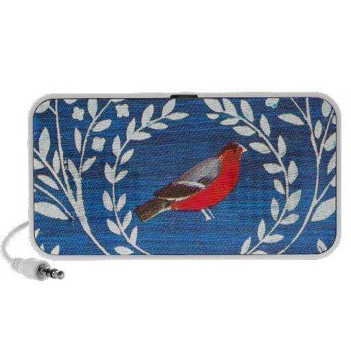 Pájaro del estilo de los artes y de los artes altavoz de viaje