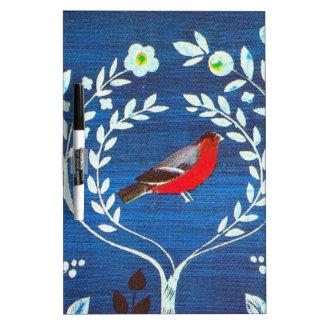 Pájaro del estilo de los artes y de los artes tableros blancos