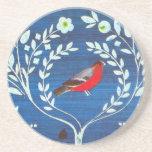Pájaro del estilo de los artes y de los artes posavasos cerveza