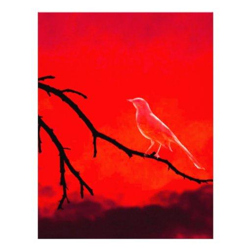 Pájaro del fantasma membretes personalizados
