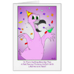 Pájaro del fiesta: Cumpleaños gay Tarjeta