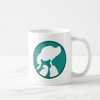 Pájaro del gato del perro taza de café
