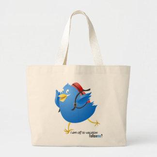 Pájaro del gorjeo que va para las vacaciones bolsa de mano