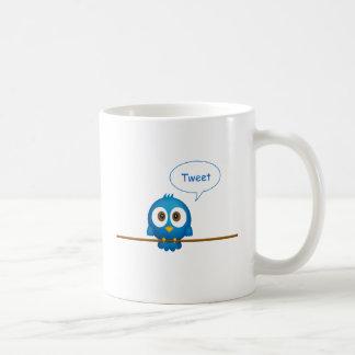 Pájaro del gorjeo taza de café