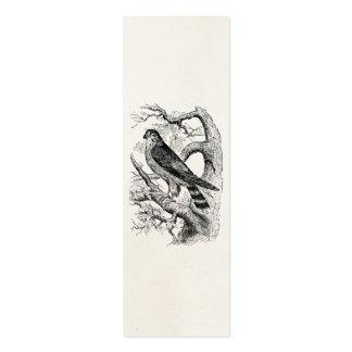 Pájaro del halcón de MERLIN del vintage - espacio Tarjeta De Visita