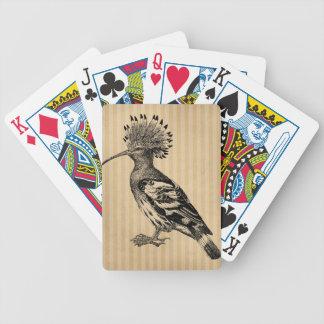 Pájaro del Hoopoe del vintage Barajas De Cartas
