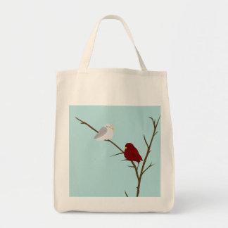 Pájaro del invierno bolsa tela para la compra
