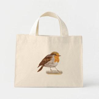 Pájaro del invierno bolsa tela pequeña