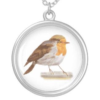 Pájaro del invierno colgante redondo