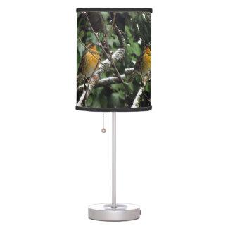 Pájaro del invierno lámpara de escritorio