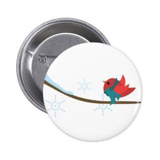 Pájaro del invierno pin