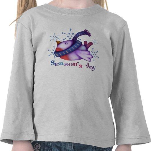 Pájaro del invierno camisetas