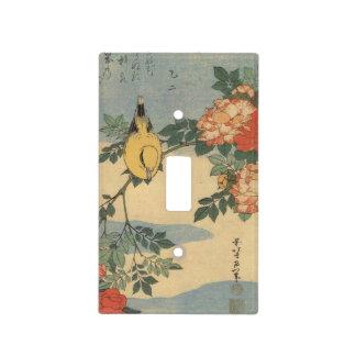 Pájaro del japonés del vintage placas para interruptor